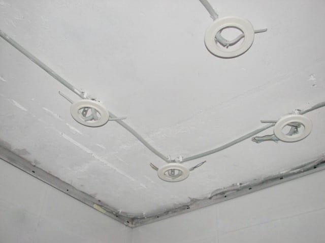 Закладные под точечные светильники