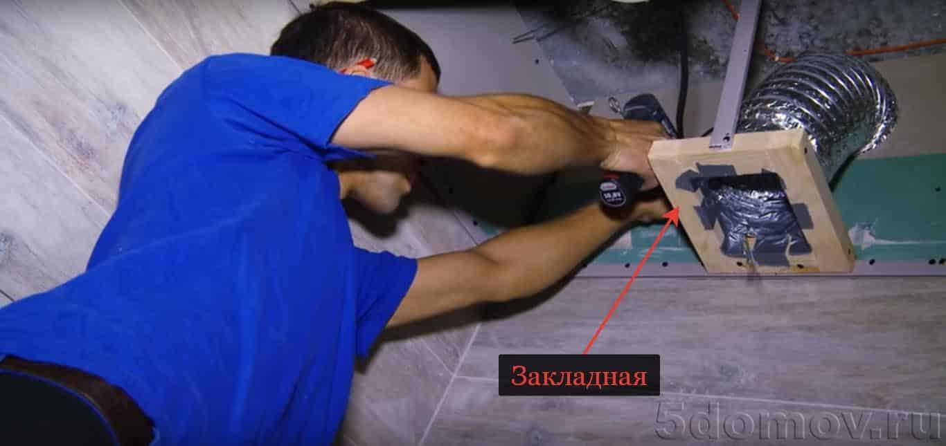 Обвод вытяжки, вентиляции и разборных труб