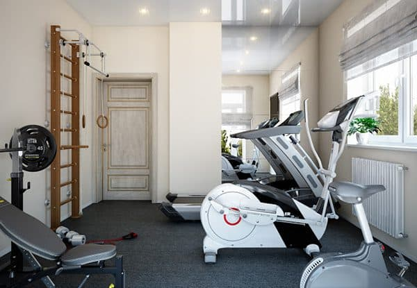 Спортзал в комнате | Спортзал в частном доме своими руками