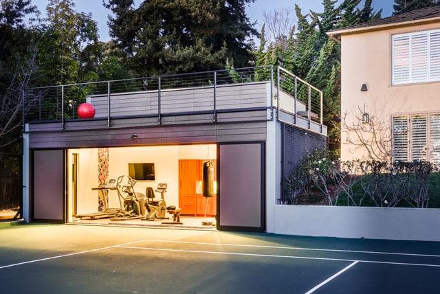 Постройка помещения под спортзал | Спортзал в частном доме своими руками