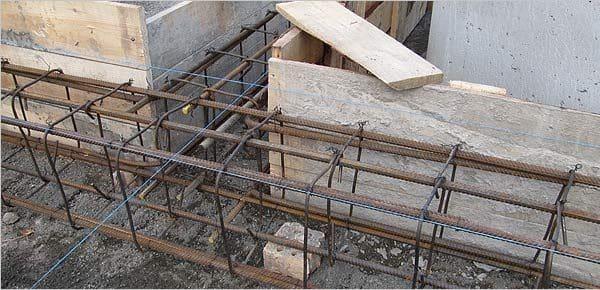 Конструкция армирующего каркаса | Расчет арматуры для ленточного фундамента