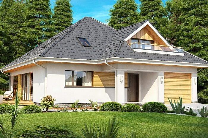 Внешне дома с мансардой выглядят красиво и аккуратно