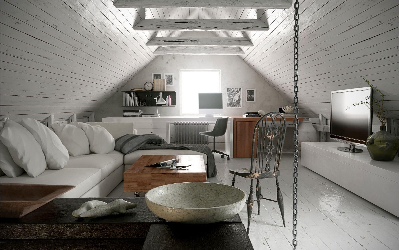 Мансарда — полноценное жилое помещение, которое можно обустроить под любые свои потребности