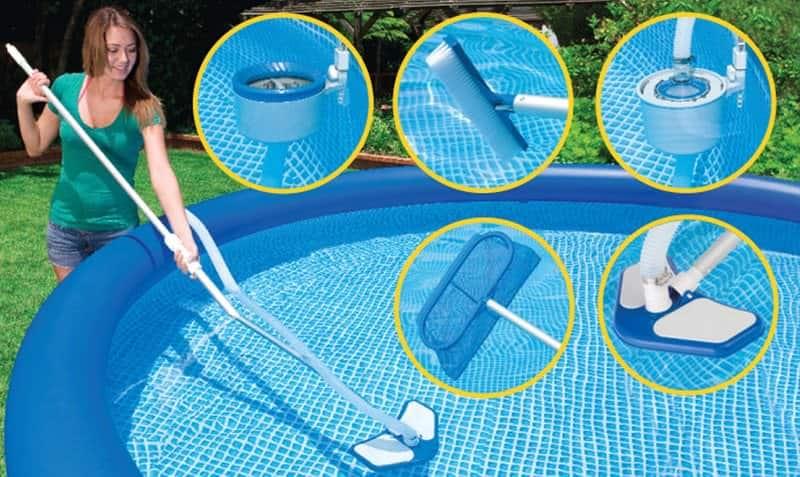 За бассейном необходимо ухаживать комплексно: от очистки дна и стенок до использования специальных химических средств