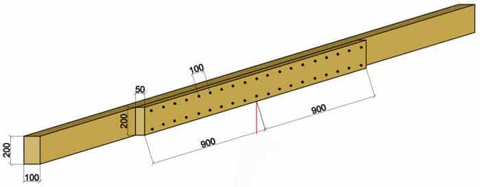 Частичное усиление лаг деревянными накладками | Чем можно усилить лаги второго этажа