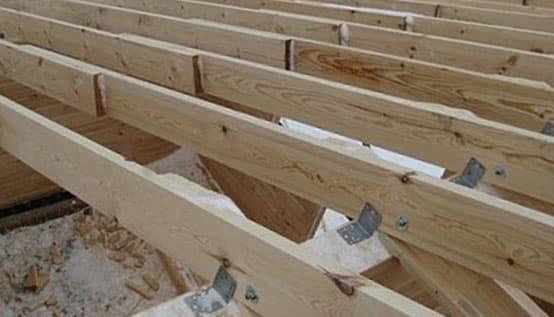 Усиление лаг металлическими накладками | Чем можно усилить лаги второго этажа