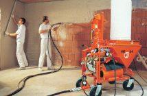 Механизированная штукатурка: плюсы и минусы, нанесение, цена