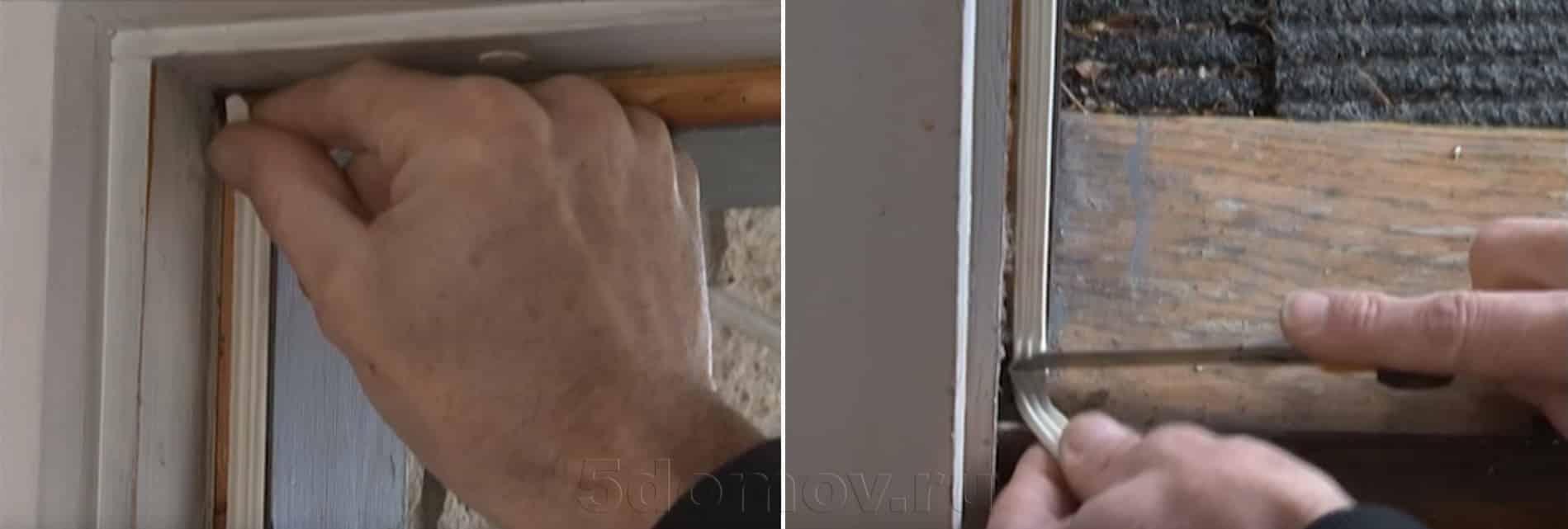 Самоклеющиеся ленты | Чем и как заделать щель в двери