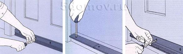 Монтаж нащельных планок | Чем и как заделать щель в двери