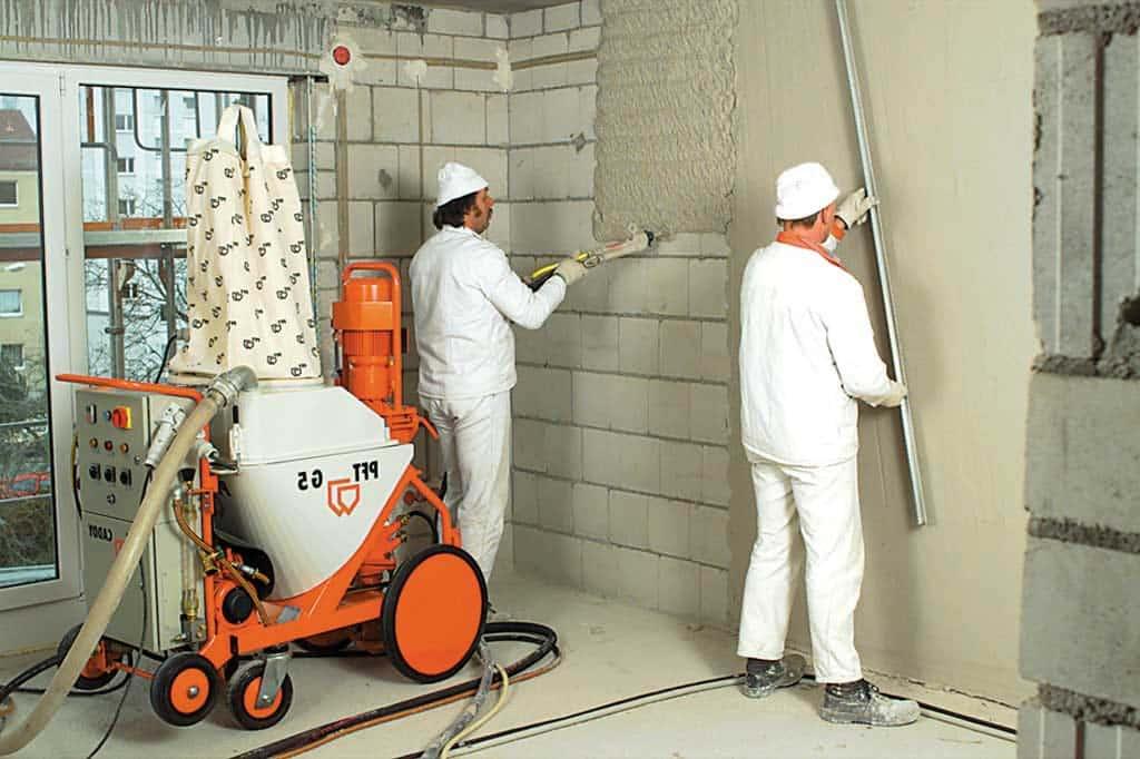 Что такое механизированная штукатурка стен | Механизированная штукатурка: плюсы и минусы, нанесение, цена