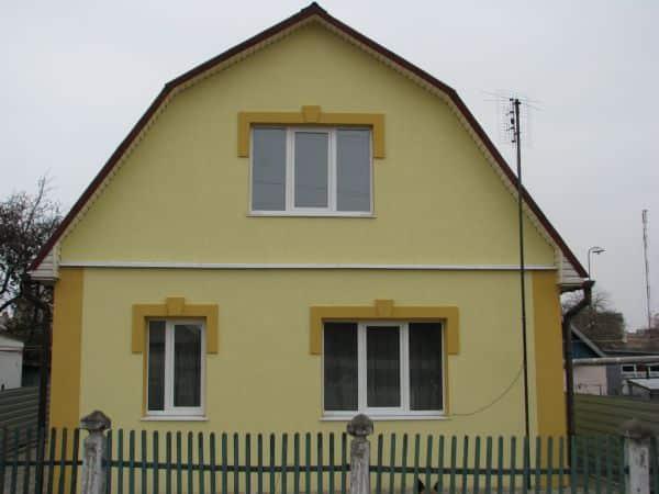 Один цвет фронтона со стенами | Цвета фронтонов: как подобрать, как сочетать