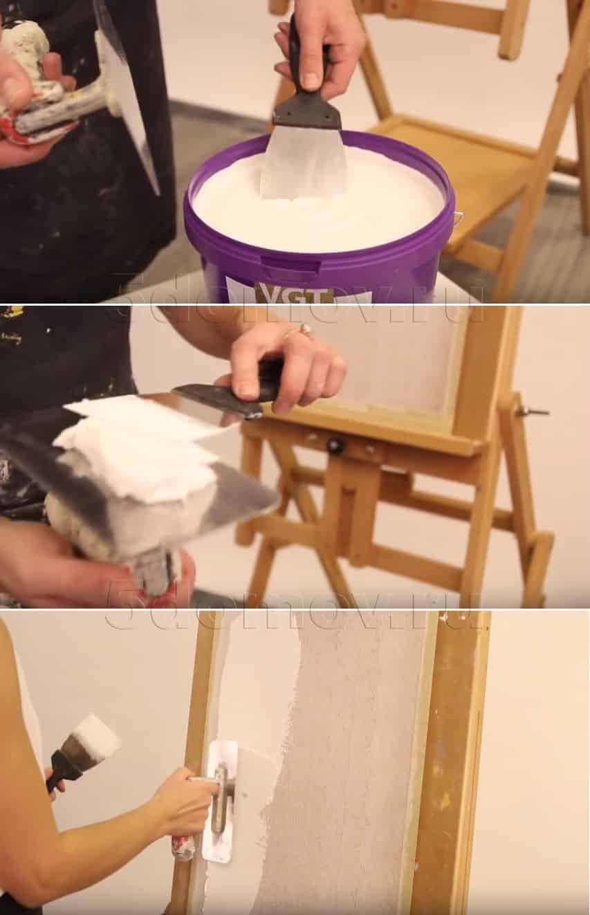Нанесение фактурной краски | Как наносить фактурную краску: инструкция с фото и видео