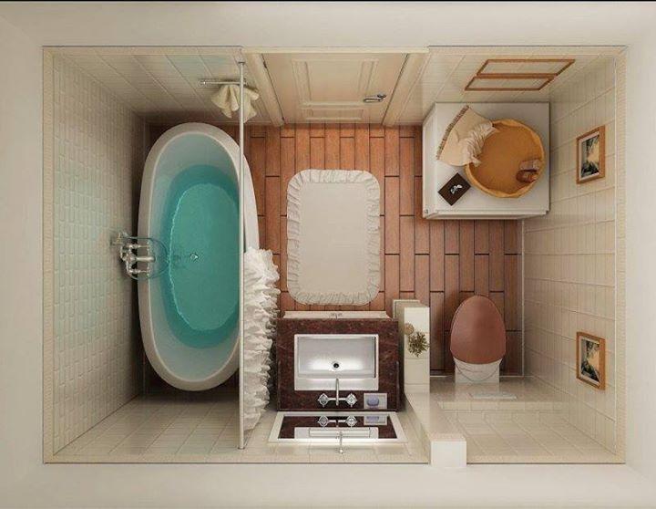 Фото дизайна маленькой ванной комнаты | Как обустроить маленькую ванную комнату