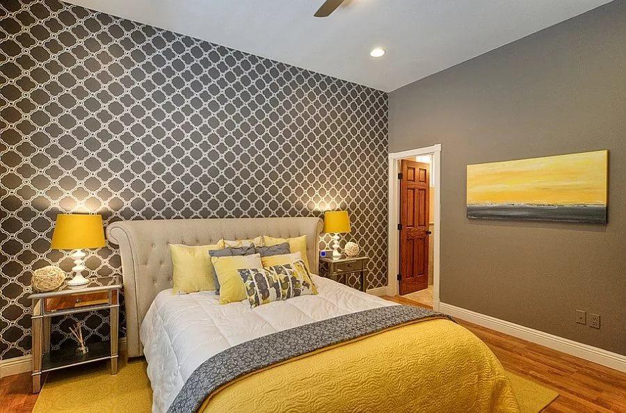 Как подобрать цвет обоев в спальню | Обои серого цвета