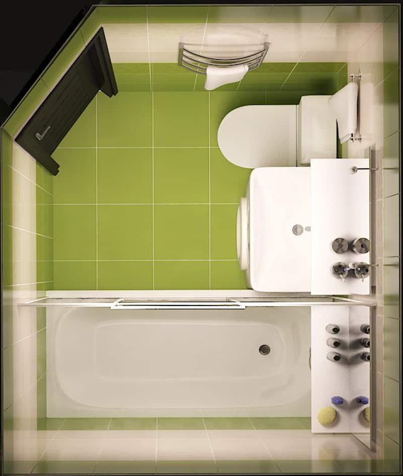 Маленькая ванна ремонт картинки