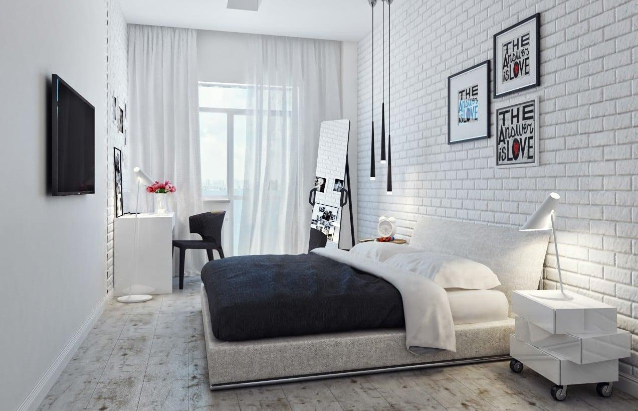 Как подобрать цвет обоев в спальню | Белые обои