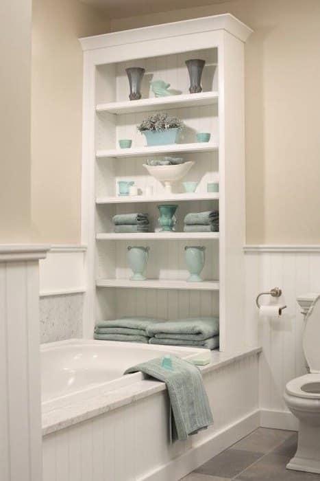 Полки, мебель и другие аксессуары | Как обустроить маленькую ванную комнату