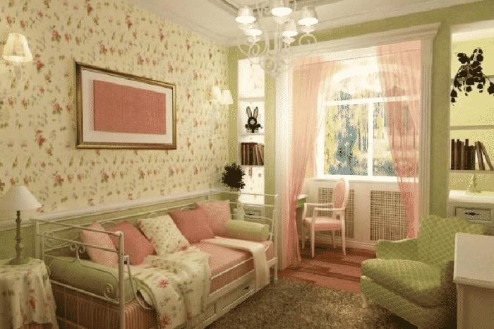 Как подобрать обои под цвет мебели
