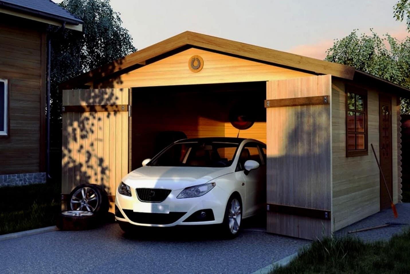 Виды деревянных гаражей | Гараж из дерева своими руками