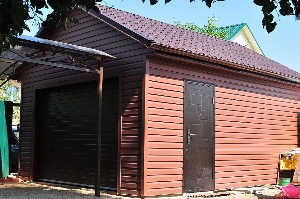 Обшивка гаража снаружи | Гараж из дерева своими руками