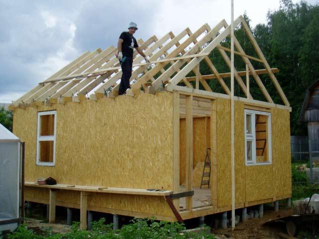 Установка крыши бани | Баня из сэндвич-панелей своими руками