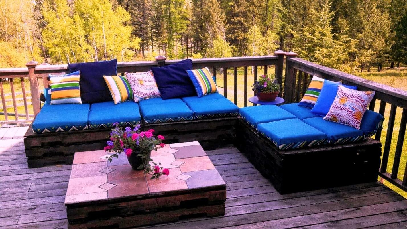 Лавочки и кресла для сада из поддонов | Что можно сделать из поддонов своими руками