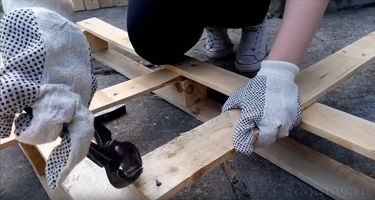 Журнальный стол из поддонов | Что можно сделать из поддонов своими руками