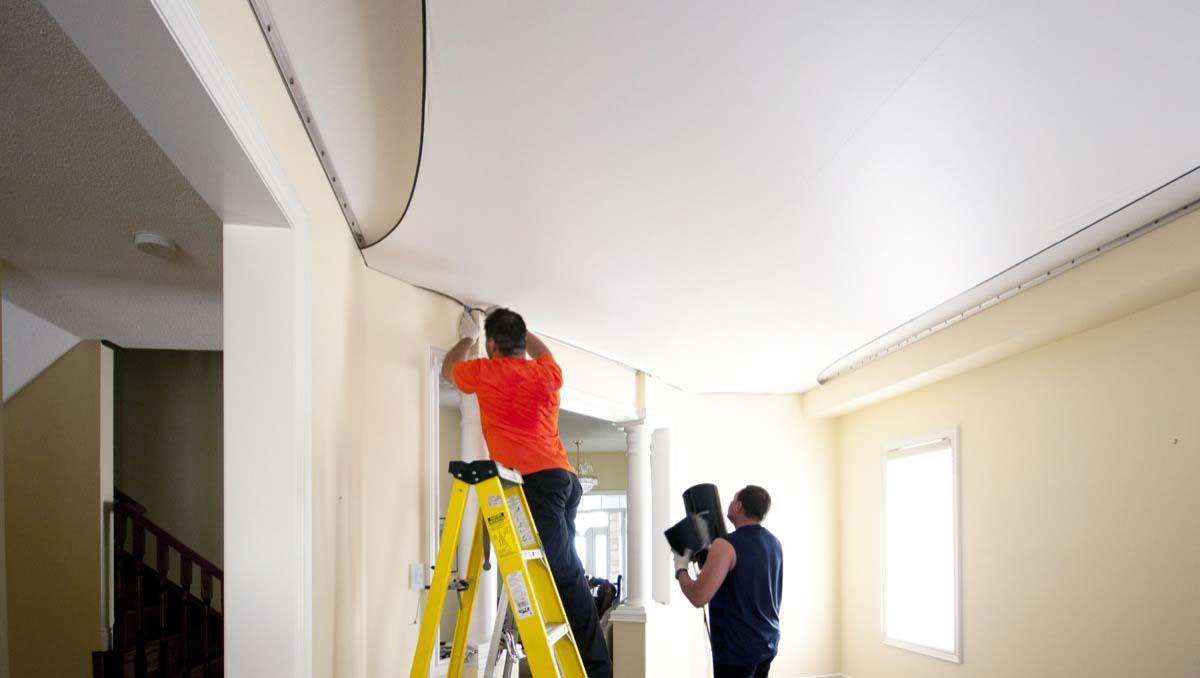 Особенности монтажа натяжных потолков | Чем лучше натяжные потолки