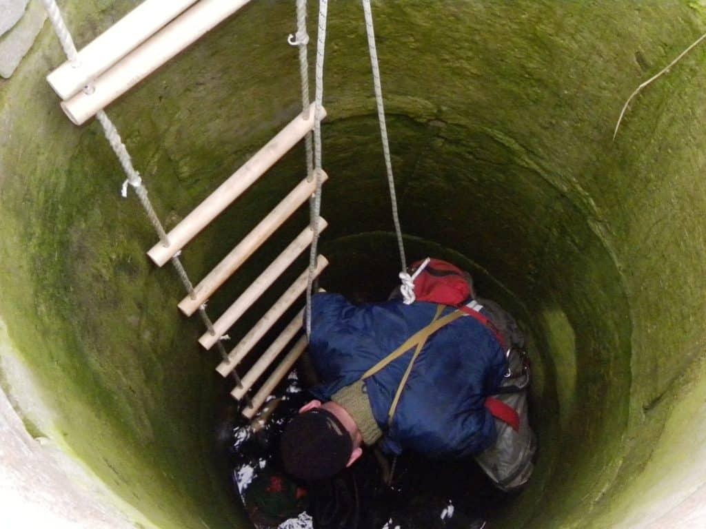 Веревочная лестница для колодца | Как спуститься в колодец