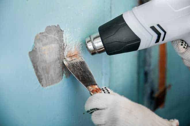 Термический способ | Чем и как отмыть водоэмульсионную краску