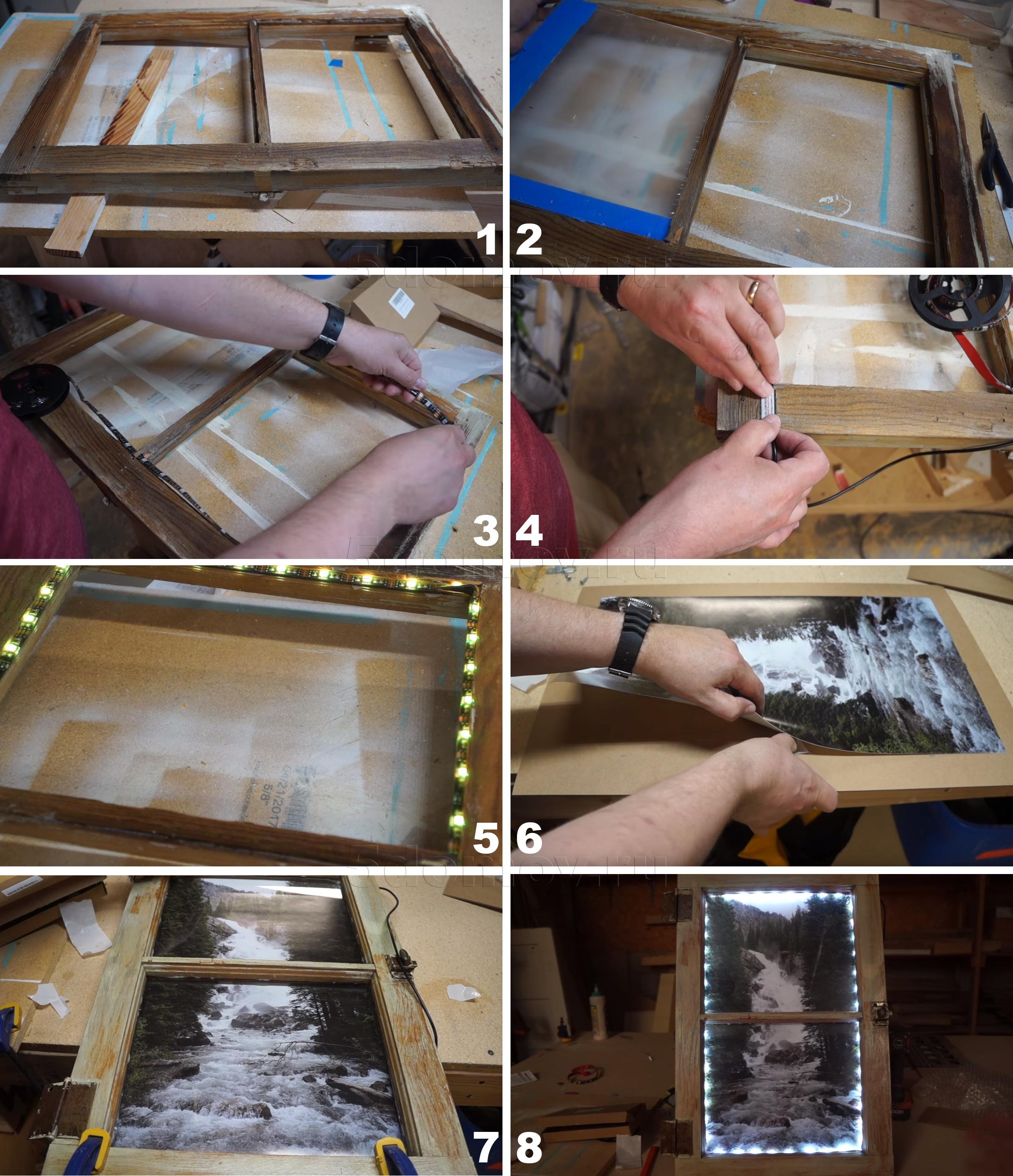Фальш-окно с подсветкой своими руками: пошаговая инструкция