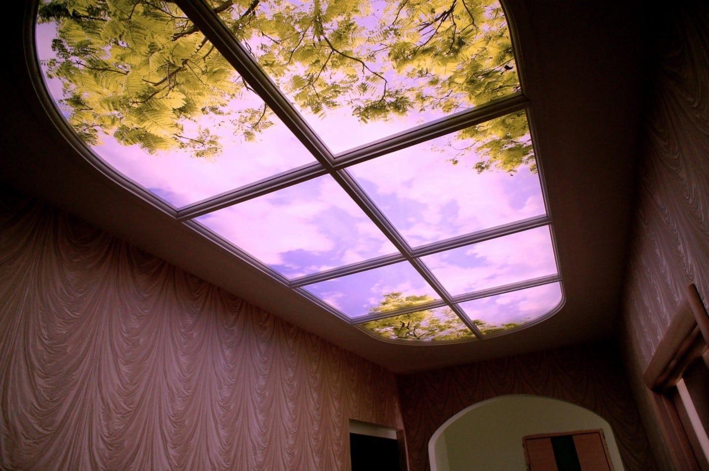Фальш-окно на потолке | Как сделать фальш-окно своими руками