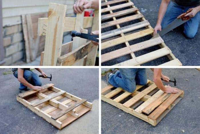 Стол из поддонов своими руками — пошаговая инструкция