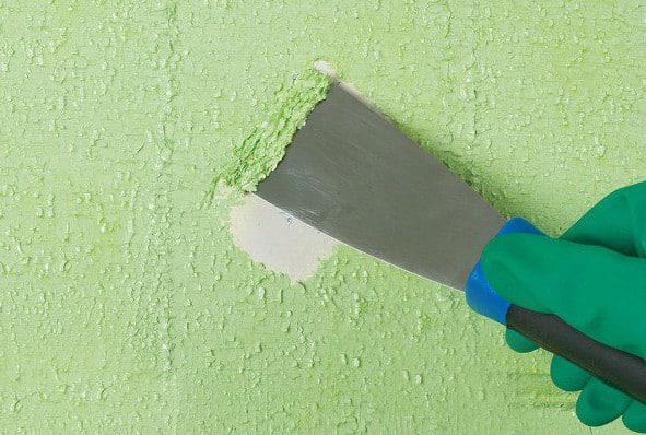 Механический способ | Чем и как отмыть водоэмульсионную краску