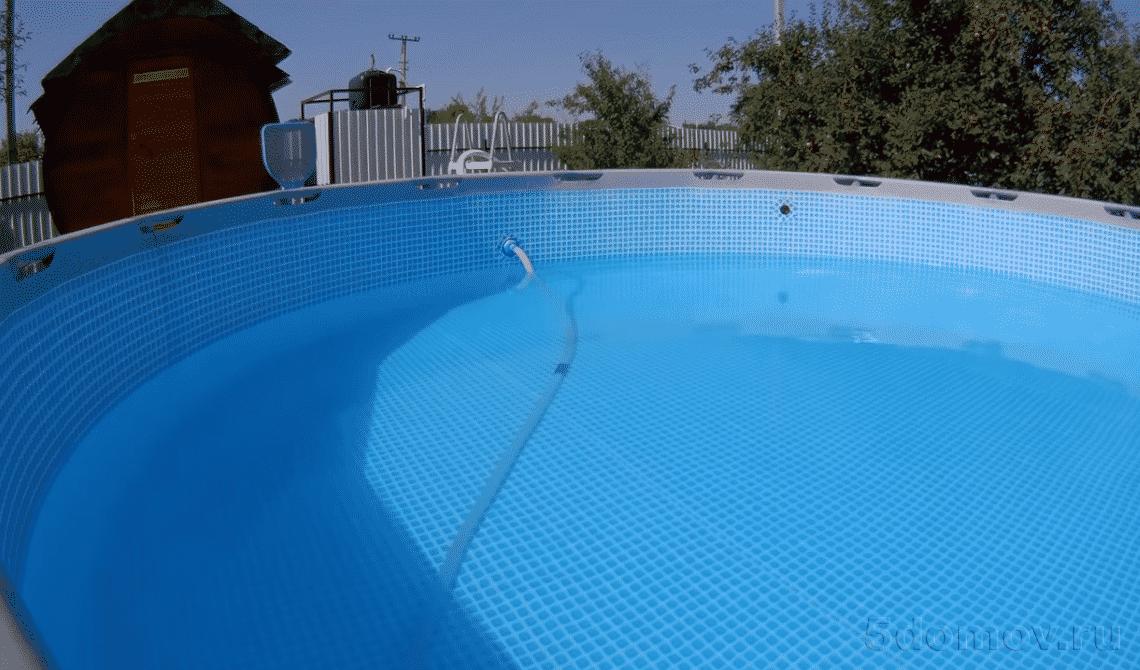 Слив воды из бассейна вручную | Как слить воду из каркасного бассейна