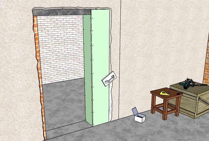 Как уменьшить дверной проем по ширине | Как уменьшить дверной проем: по ширине, по высоте, гипсокартоном, брусом, кирпичом