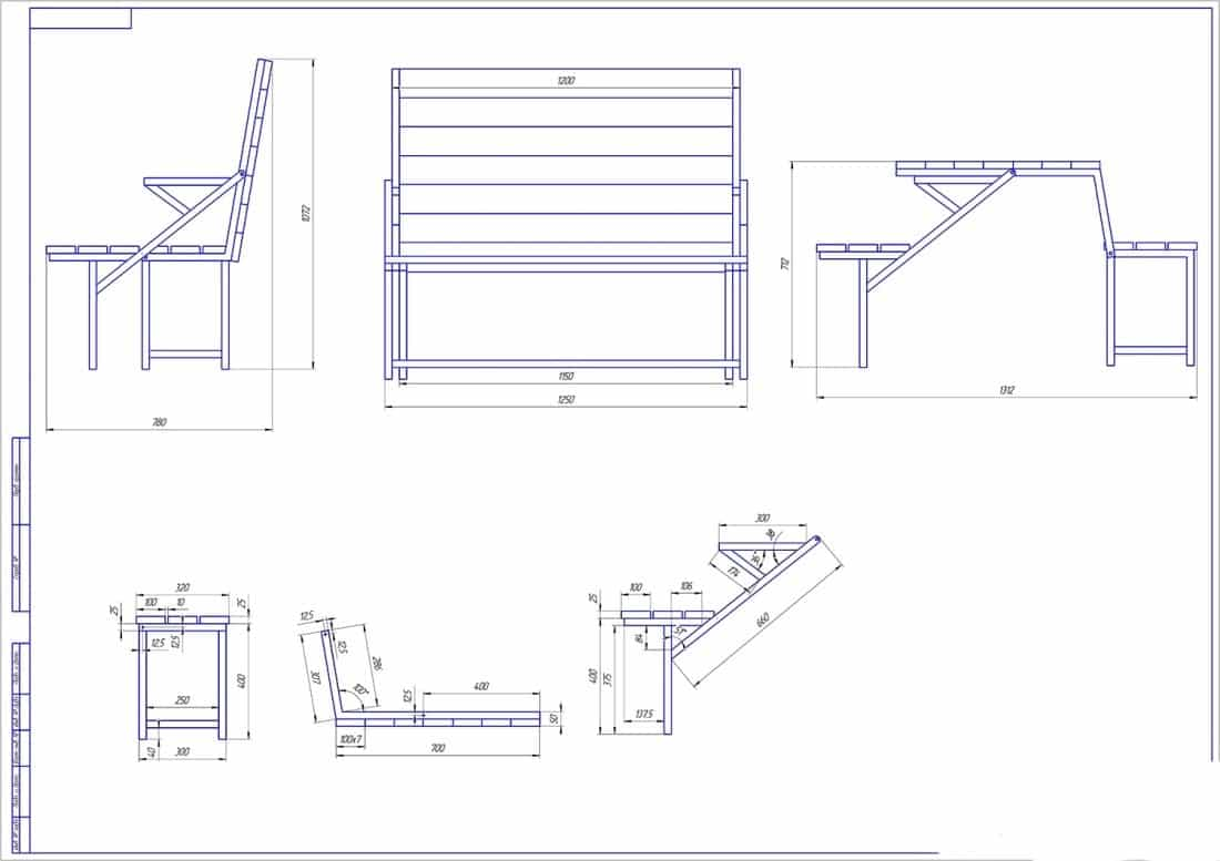 Подготовка материалов для изготовления скамейки | Скамейка из профильной трубы своими руками