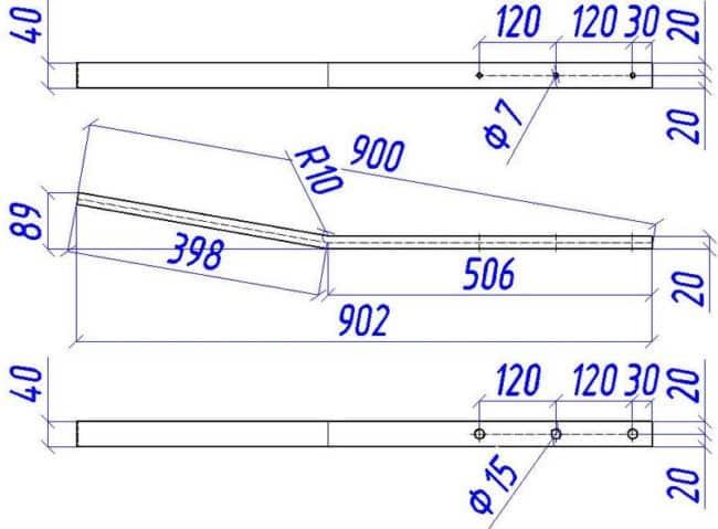 Делаем каркас скамейки из профильной трубы | Скамейка из профильной трубы своими руками
