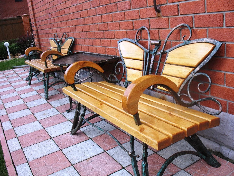 Дополнительные элементы конструкции | Скамейка из профильной трубы своими руками