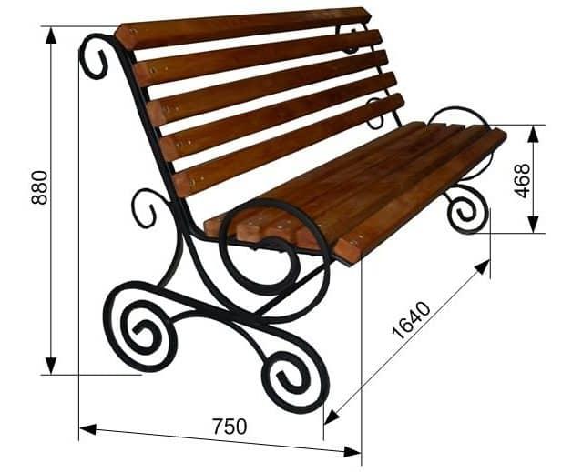 Декорирование скамейки | Скамейка из профильной трубы своими руками