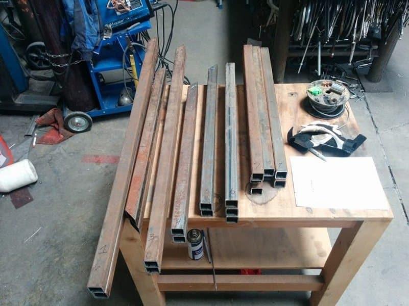 Размеры и чертежи скамейки | Скамейка из профильной трубы своими руками