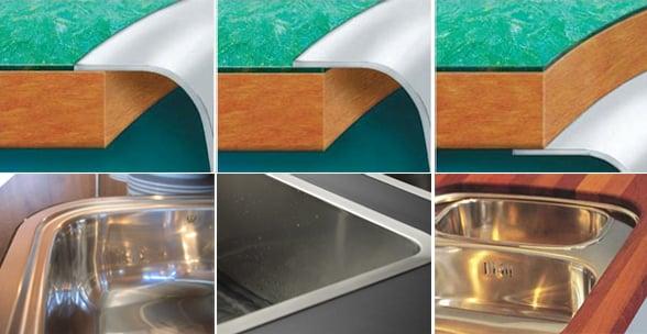 Как вырезать столешницу под разные виды врезных моек | Как в столешнице вырезать отверстие под мойку
