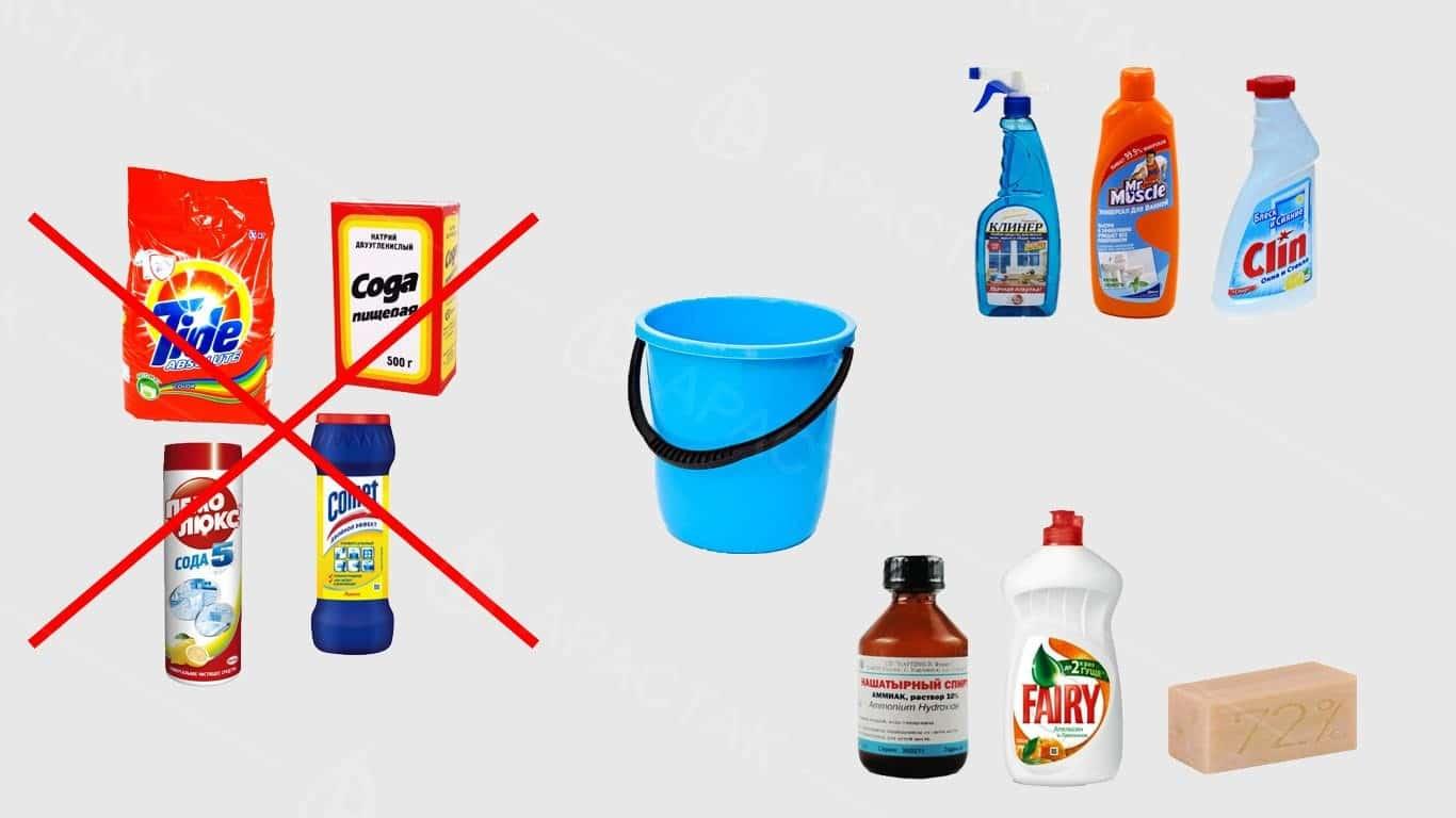 Что не рекомендуется использовать | Как помыть глянцевый натяжной потолок без разводов в домашних условиях