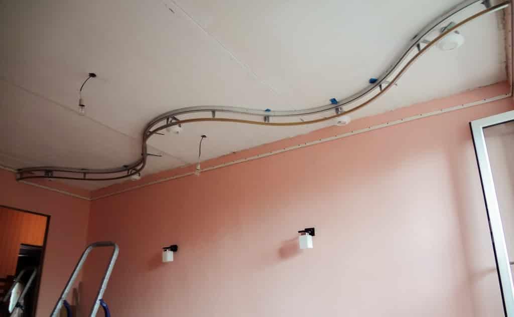 Установка двухуровневого натяжного потолка | Установка тканевых натяжных потолков: пошаговая инструкция монтажа своими руками