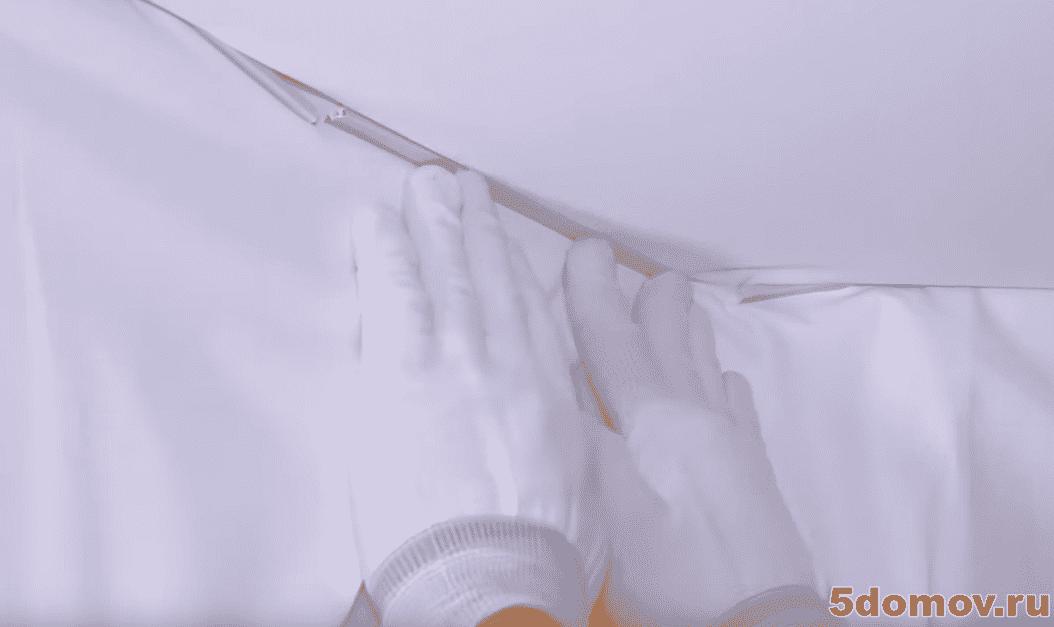 Установка тканевого натяжного потолка (штапиковым креплением) | Установка тканевых натяжных потолков: пошаговая инструкция монтажа своими руками