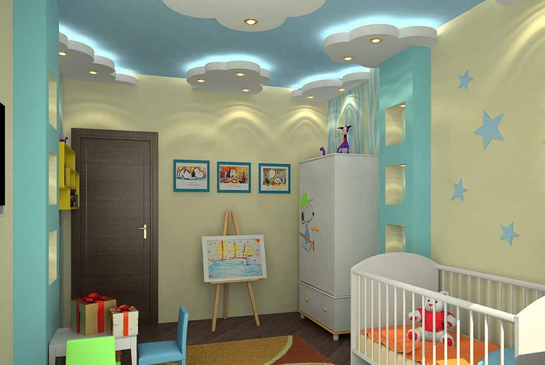 Можно ли делать натяжной потолок в детскую комнату | Вреден ли натяжной потолок для здоровья