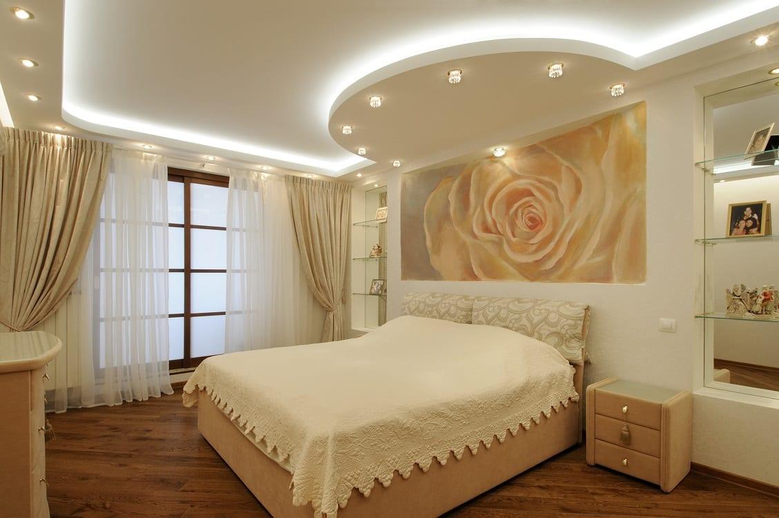 Можно ли делать натяжные потолки в спальне | Вреден ли натяжной потолок для здоровья