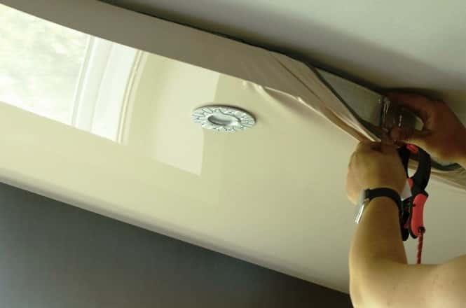 Как снять натяжной потолок с гарпунным типом крепления | Как снять натяжной потолок своими руками
