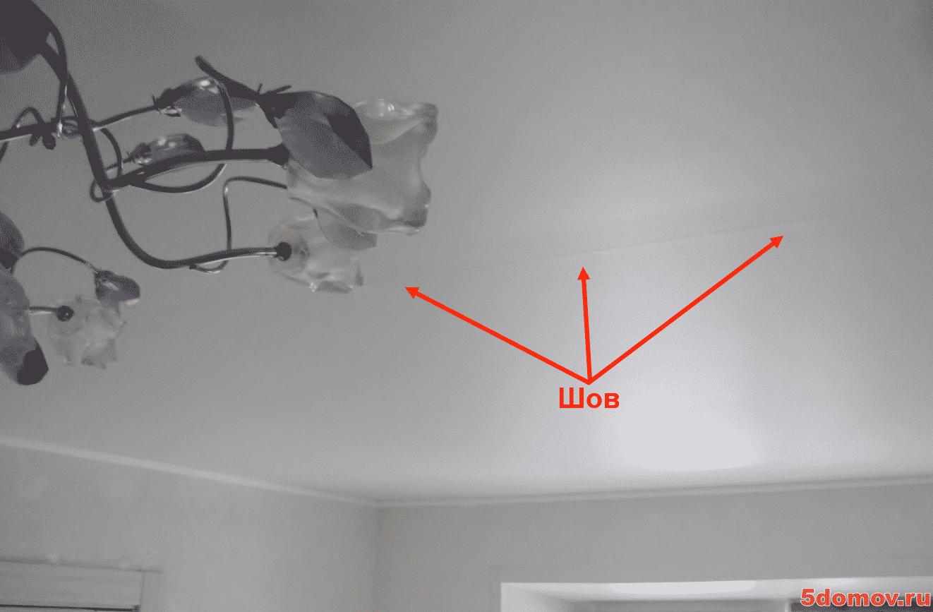 Что делать, если провис натяжной потолок | Почему провис натяжной потолок — причины, что делать