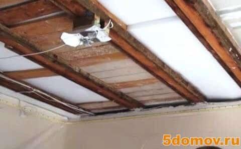 Как установить шумоизоляцию потолка под натяжной потолок — пошаговые инструкции